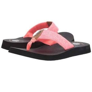 Yellow Box Sz 10 Nappar Flip Flop Pink